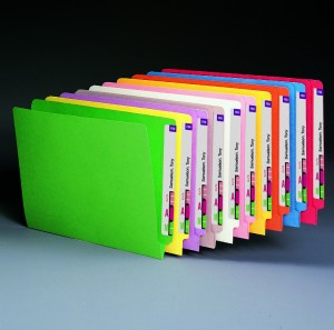 office solution color coded filing folders