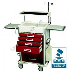 medical hospital nurses surgical surgery cart carts mobile station wheeled triage patient wheels crash