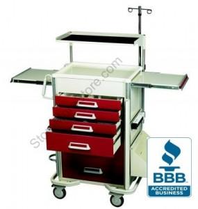 medical hospital nurses surgical surgery cart carts mobile station wheeled triage patient wheels crash