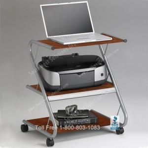 mobile wheeled computer cart home office laptop carts rolling