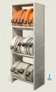 firehose storage shelf shelves rack racks fire hose department station shelving