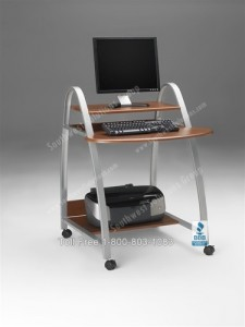 home office computer cart laptop mobile workstation compact rolling office furniture