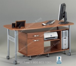 rolling desks office desk workstation home computer mobile credenza