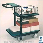 wheeled mail cart mailroom sorter parcel delivery package dolly
