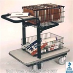 mail cart mailroom mailcart delivery wheeled sorter basket push
