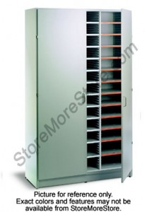 mailroom mail sorter module furniture with hinged doors