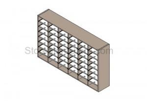 freestanding sorter mailroom furniture desk sorters literature cubby cabinet desktop