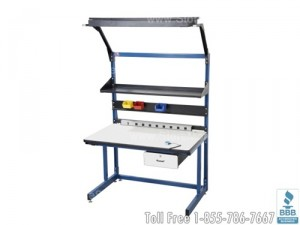 workstations workbenches industrial tables warehouse packing kitting ergonomic