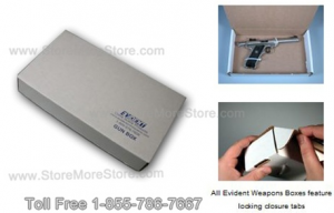 Gun storage boxes police Weapon evidence storage sheriff Evident handgun storage box