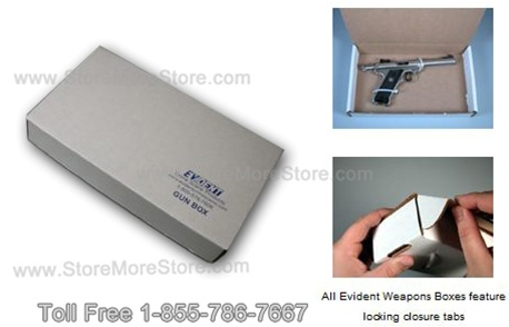 For smaller gun evidence we have handgun boxes