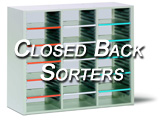 Closed Back Hamilton Sorter Desktop Mail Storage Unit