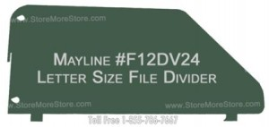 Mayline Shelving Dividers Letter Size MLTR-24