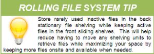 tip for how to use a rolling filing system