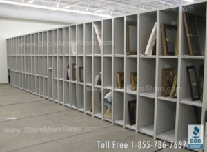 Adjustable Art Storage Shelves and Artwork Racks