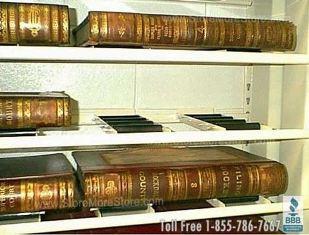 Roller Shelving Book Storage