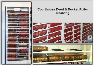 Roller Shelving for Docket Book and Deed Book Storage