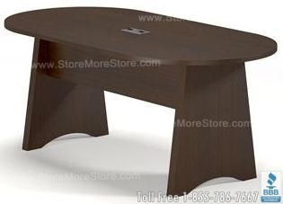 racetrack conference tables with with grommets
