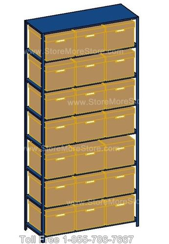 File Shelving In-A-Box can be used to store boxes