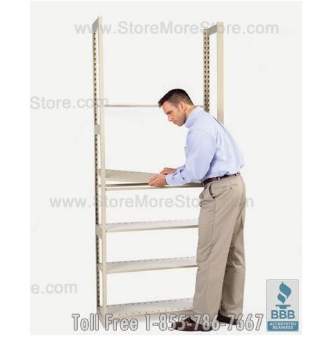 Assembling the office storage shelves are easy
