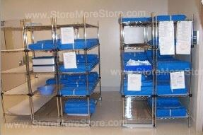 High Density Rolling Wire Racks Save Space