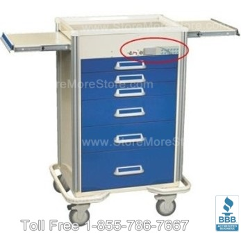 anesthesia carts for medical supply storage