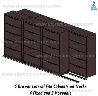 A double deep configuration of the sliding lateral file cabinets