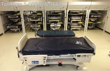store more hospital beds in less space with Vertical Bed Stackers