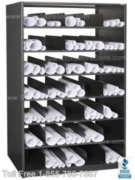 store blueprints in Rolled Document Shelving