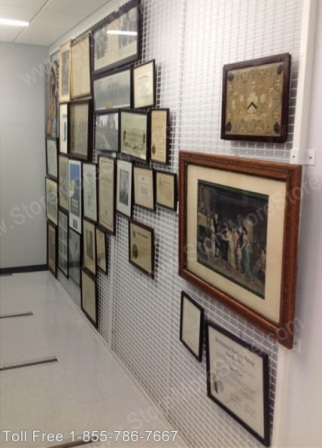 keep museum art safe and secure with wall mounted hanging art panels