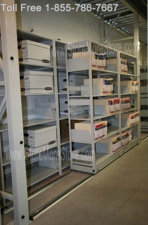 Save Space With Sliding File Shelves, Mobile Lateral Cabinets, And Rolling  Storage Racks ...