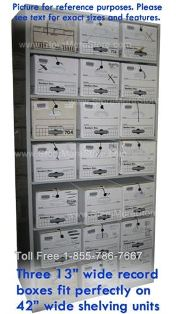 keep all types of archives, files and records in box storage shelving