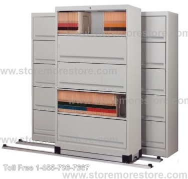 moving on tracks high density sliding door shelves saves space