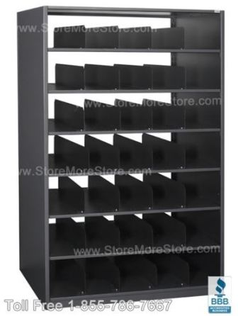 poster cubby shelves are a space saving poster storage solution