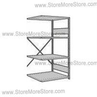 storing archives and files in record box storage shelving