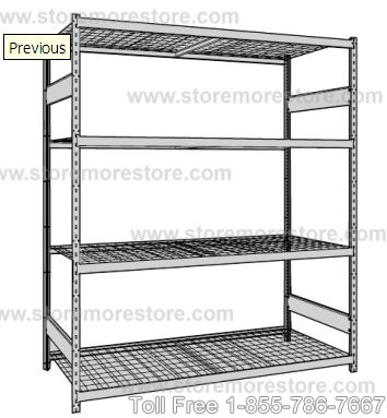 Wire Decking Shelves on Bulk Racks