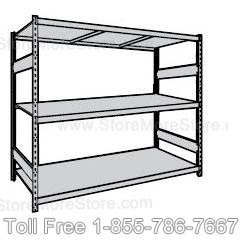 Wide Span Bulk Racks with Steel Decking