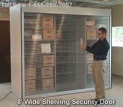 Transparent Remote Controlled Security Doors