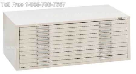 Flat File Cabinet Metal 10 Drawers