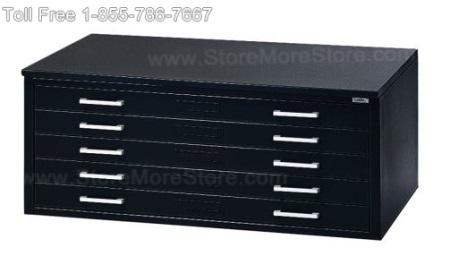 Metal 5 Drawer Flat File Cabinet