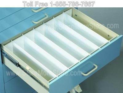 Hospital Cart Drawer Divider Set