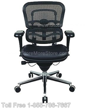 Mixed Mesh and Leather Ergonomic Executive Chair