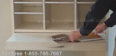 Office Sorting Units with Retractable Work Surfaces