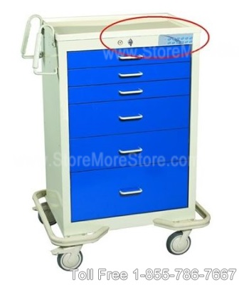 anesthesia cart made of double wall steel