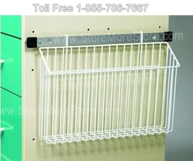 wire basket chart holder hospital cart accessory