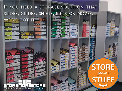 store stuff in sliding storage solutions