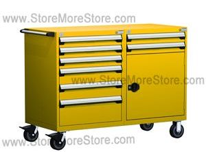 Mobile Drawer Cabinet for Tool and Part Storage