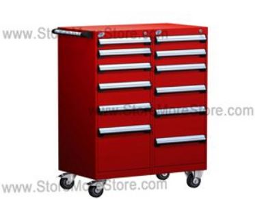 mobile drawer cabinet red