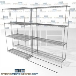 Lateral Wire Storage Shelving 2 Deep