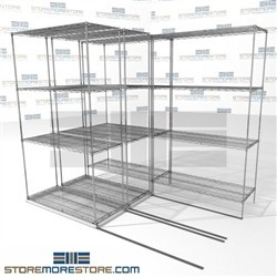 Lateral Wire Storage Shelving 3 Deep
