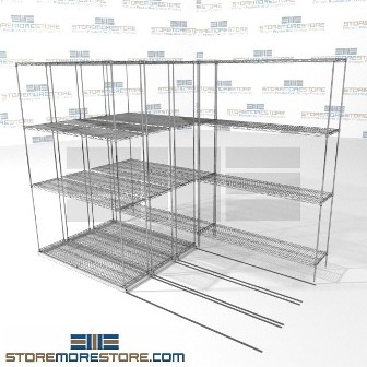 Lateral Wire Storage Shelving 4 Deep